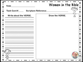 Bible Task Cards: Women of the Bible