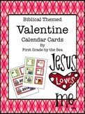 Biblical Themed Valentine Calendar Cards-FREEBIE