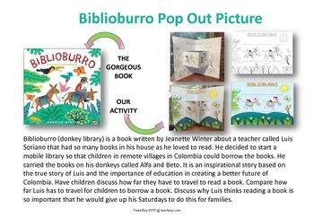 Biblioburro Pop Out Picture