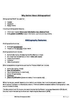 Bibliography Basics