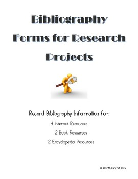 Bibliography Forms for Research Projects