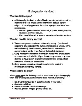 Bibliography Handout