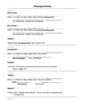 Bibliography Worksheet