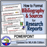 Writing a Research Paper Bibliography with Source Cards PowerPoint MLA 8 Format