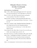 Bibliography of Resources to Develop a  Knowledge of Autoe