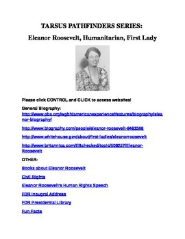 Bibliography on Eleanor Roosevelt (Grades 6-8)