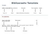 Bibliography template (Harvard referencing)