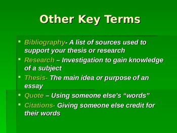 Bibliography/Citations PowerPoint