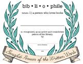 Bibliophile/Library Patron Appreciation Certificate