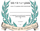 Bibliophile/Library Patron Appreciation Certificate