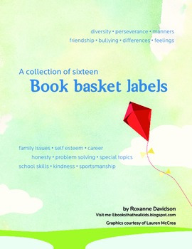 Bibliotherapy Book Bin Labels