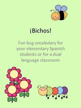 Bichos! Spring Bug Spanish Vocabulary and More!