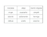 Bichos labels