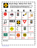 Bicycle Safety Bingo