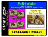 Bicycle / Bike - Expandable & Editable Strip Puzzle w/ Mul