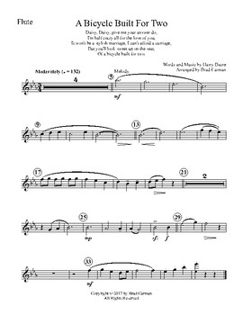 Bicycle Built for Two (for Four Woodwinds)