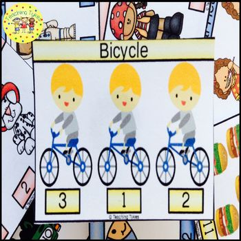 Bicycle Clip Task Cards