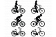 Bicycle SVG, Biking, Bike SVG files for Silhouette Cameo and Cricut.