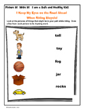 Bicycle Safety:  Rhyming Words
