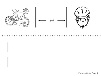 Make A Bicycle Safety Picture Strip with Captions