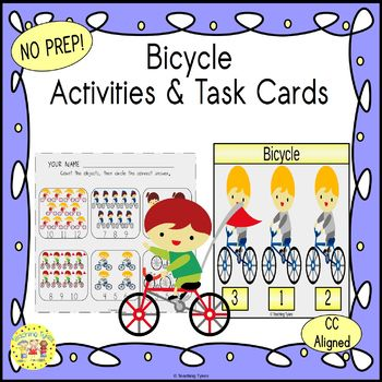 Bicycle Worksheets Activities Games Printables and More