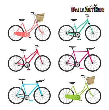 Bicycles Clip Art - Great for Art Class Projects!