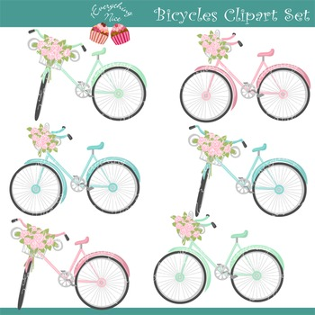 Bicycles Clipart Set