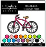 Bicycles Clipart {A Hughes Design}