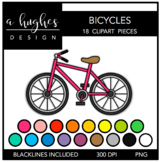 Bicycles Clipart {A Hughes Design}