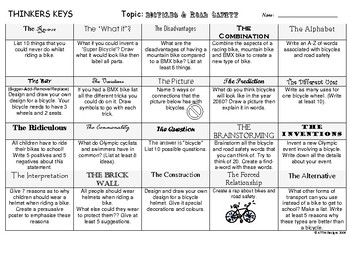Bicycles and Road Safety -Thinkers Keys