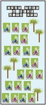 Bicycles printable activities door theme decor