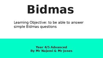 Bidmas Year 4