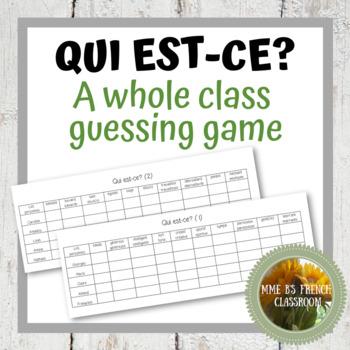Bien dit 1 Chapitre 3: Qui est-ce? A guessing game to practice adjectives