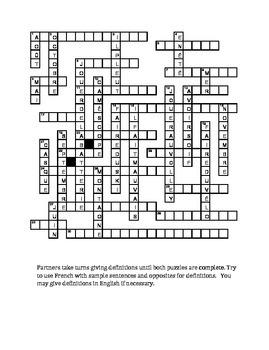 Bien Dit 1 Chapitre 5 Vocabulaire Partner Puzzle Speaking activity