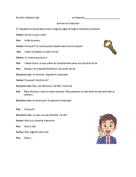 Bien Dit 1 Chapter 10a mini conversations to act and/or translate