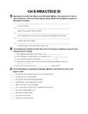 Bien Dit 1, Chapter 5 Test Prep, Review Activities