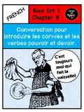 Bien Dit 1 Chapter 8 Conversation to introduce chores, pou