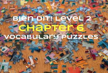 Bien Dit 2 Chapter 6 Vocabulary jigsaw puzzle BUNDLE