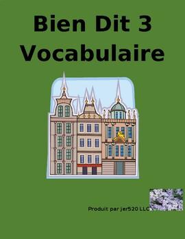 Bien Dit 3 Chapitre 10 Vocabulaire List and Quizzes