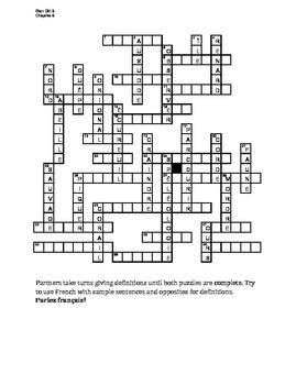 Bien Dit 3 Chapitre 5 Vocabulaire Partner Puzzle Speaking activity