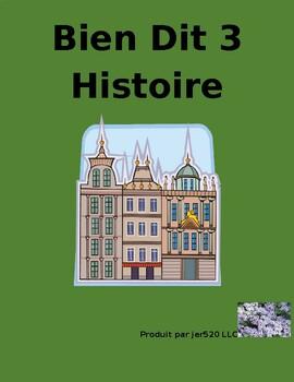Bien Dit 3 Chapitres 1 et 2 Histoire worksheet