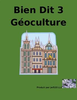 Bien Dit 3 Chapitres 7 et 8 Géoculture l'Europe francophone worksheet