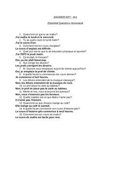 Bien Dit CH 4 vocabulaire 1 Pre-test