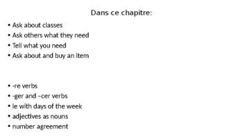 Bien Dit Chapter 4 Lesson 1 PowerPoint