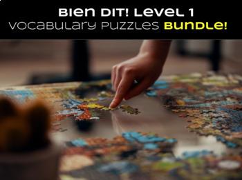 Bien Dit! Level 1 CHAPTERS 1-8 Vocabulary jigsaw puzzle MEGA BUNDLE