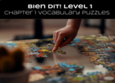 French Bien Dit! Level 1 Chapter 1 Vocabulary jigsaw puzzl