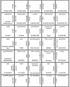 French Bien Dit! Level 1 Chapter 3 Vocabulary jigsaw puzzle BUNDLE