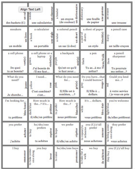 French Bien Dit! Level 1 Chapter 4 Vocabulary jigsaw puzzle BUNDLE