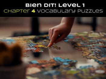 Bien Dit 1 Chapter 4 Vocabulary jigsaw puzzle BUNDLE