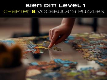 French Bien Dit! Level 1 Chapter 8 Vocabulary jigsaw puzzle BUNDLE